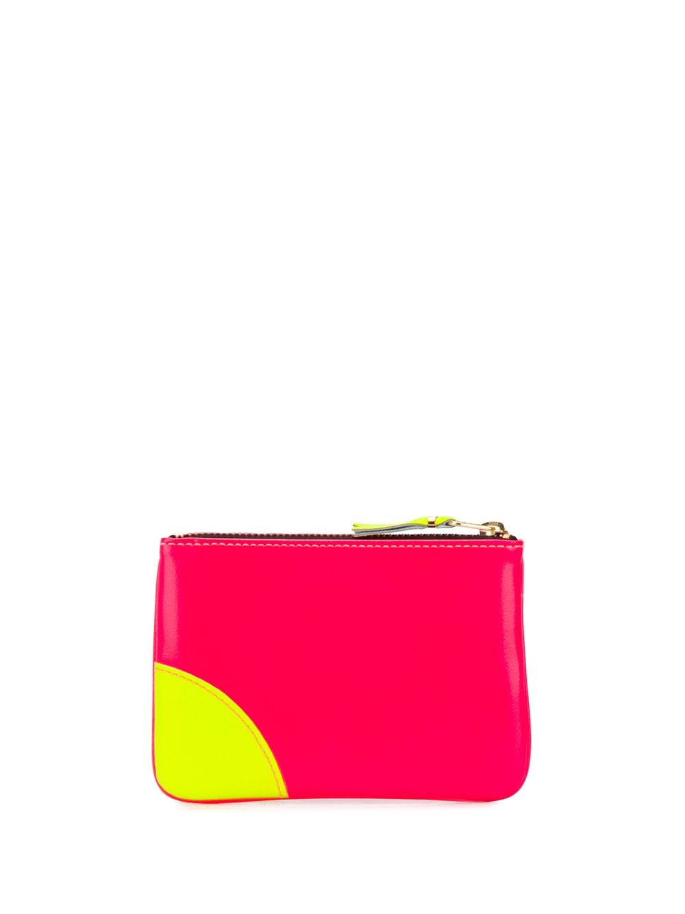 zip wallet unisex bicolor in leather COMME DES GARÇONS WALLET   Wallets   SA8100SFLO/P