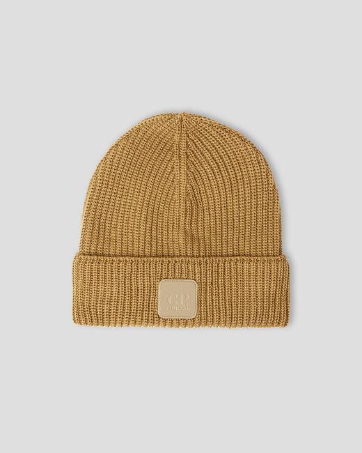wool hat man camel C.P. COMPANY | Hats | 11CMAC121A005509A326