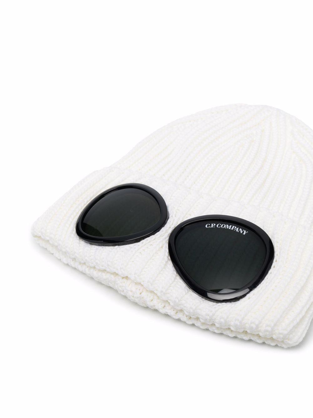 cappello con applicazioni uomo bianco in lana C.P. COMPANY   Cappelli   11CMAC122A005509A103
