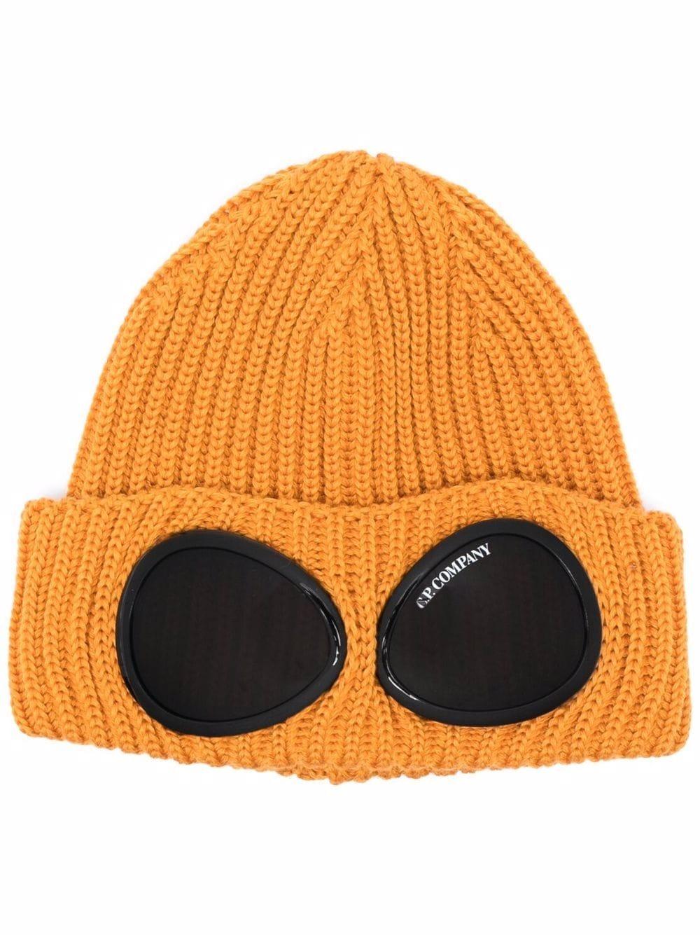 cappello con applicazioni uomo arancione in lana C.P. COMPANY | Cappelli | 11CMAC122A005509A436