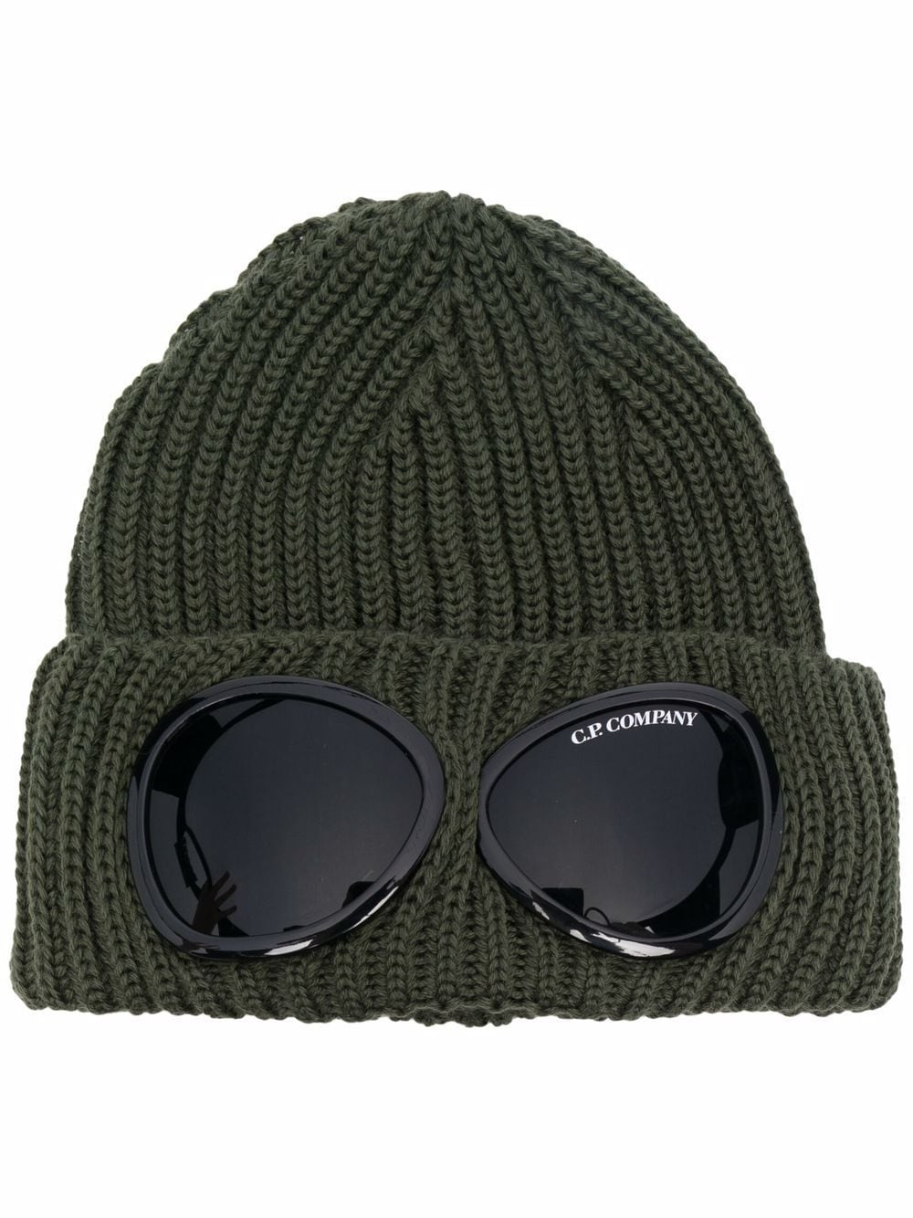 hat with applications man military green in wool C.P. COMPANY | Hats | 11CMAC122A005509A665