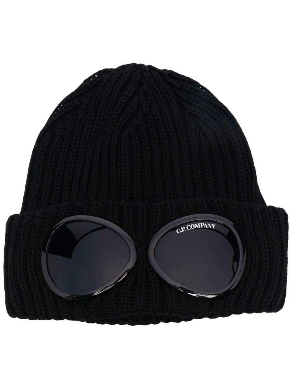 cappello con applicazioni uomo nero in lana C.P. COMPANY | Cappelli | 11CMAC122A005509A999