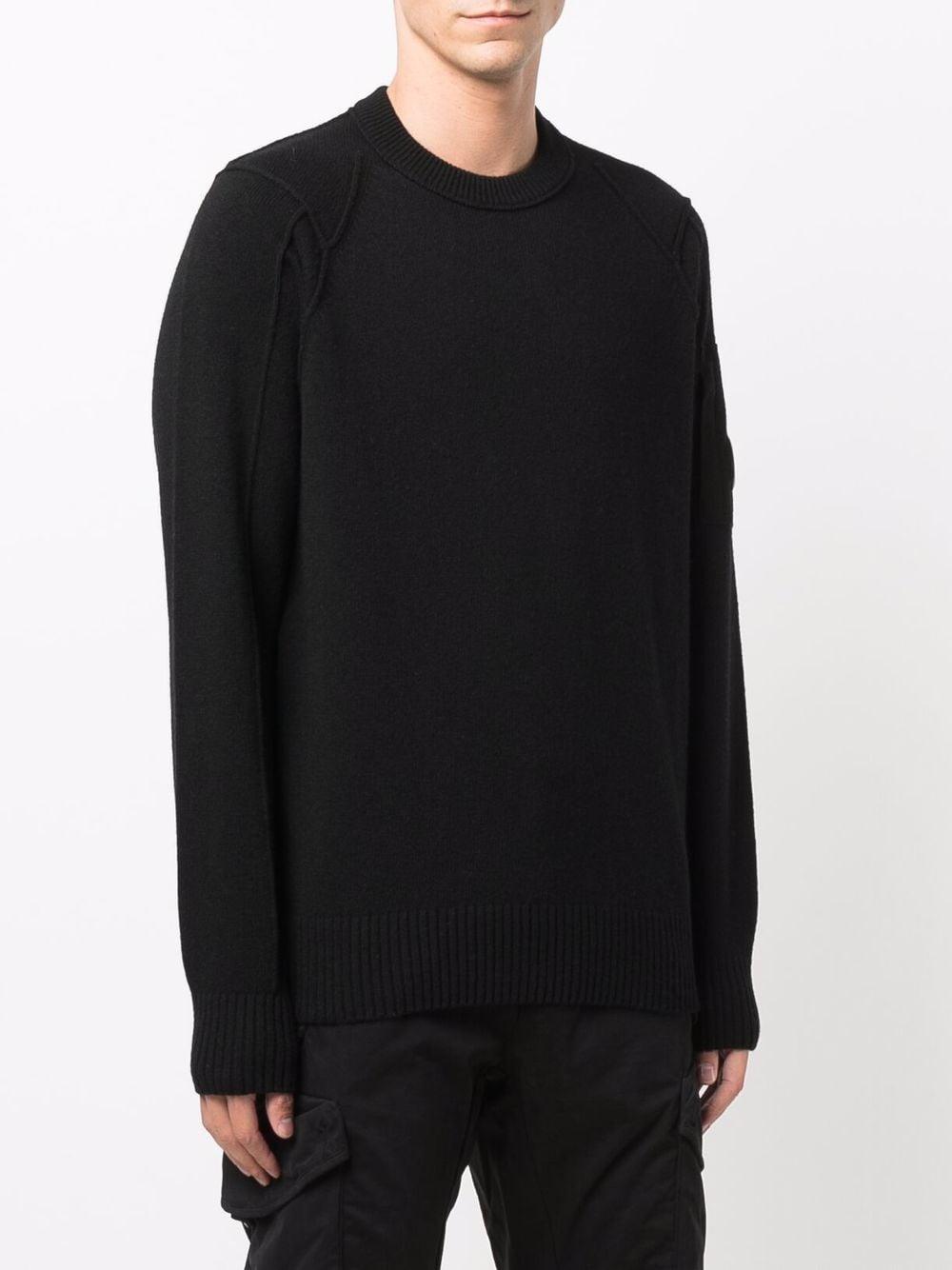 maglione in lana uomo nero C.P. COMPANY   Maglieria   11CMKN087A005504A999