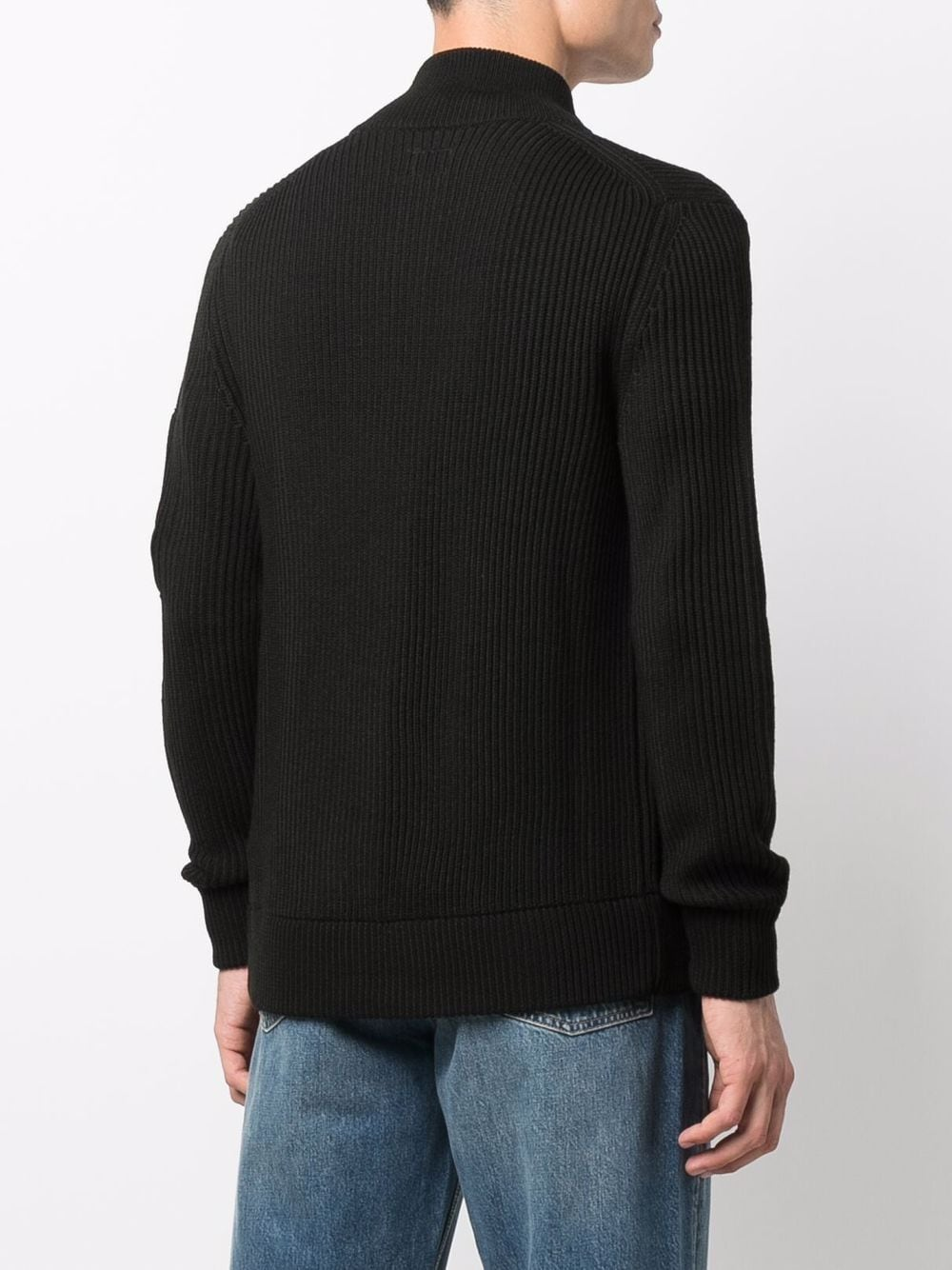 sweater with zip man black C.P. COMPANY | Sweaters | 11CMKN180A005292A999