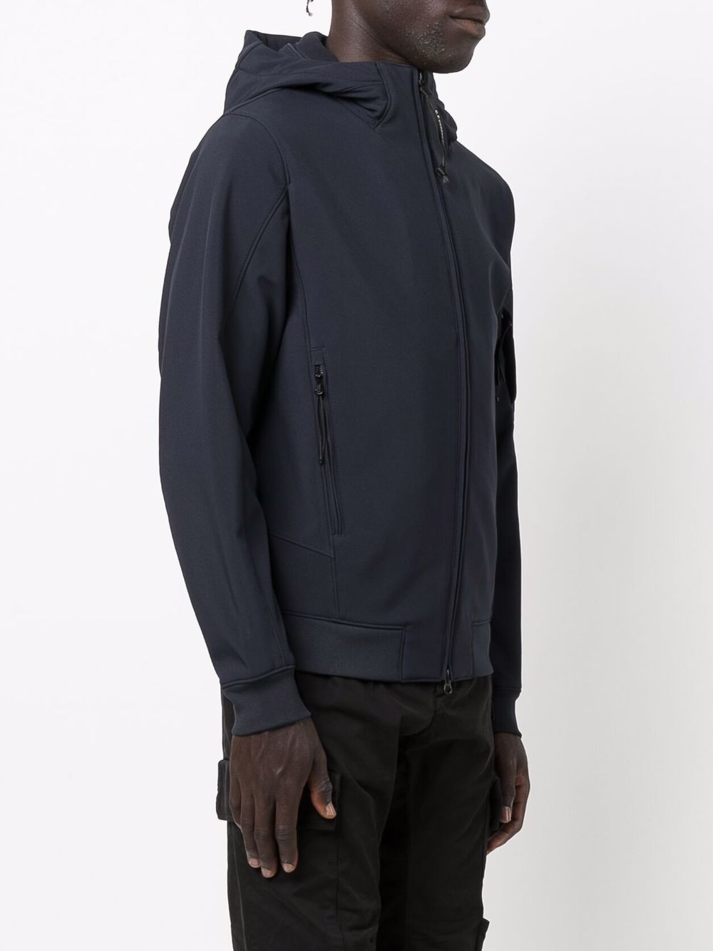 giacca leggera con cappuccio uomo blu C.P. COMPANY   Giacche   11CMOW003A006097A888