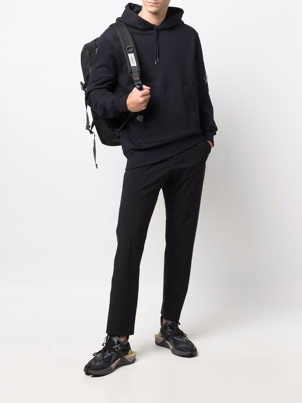 hoodie man blue in cotton C.P. COMPANY   Sweatshirts   11CMSS056A005086W888