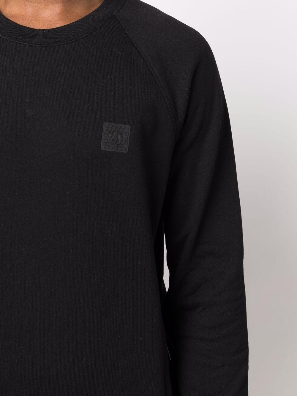 crew neck sweatshirt man black in cotton C.P. COMPANY   Sweatshirts   11CMSS064A005086W999