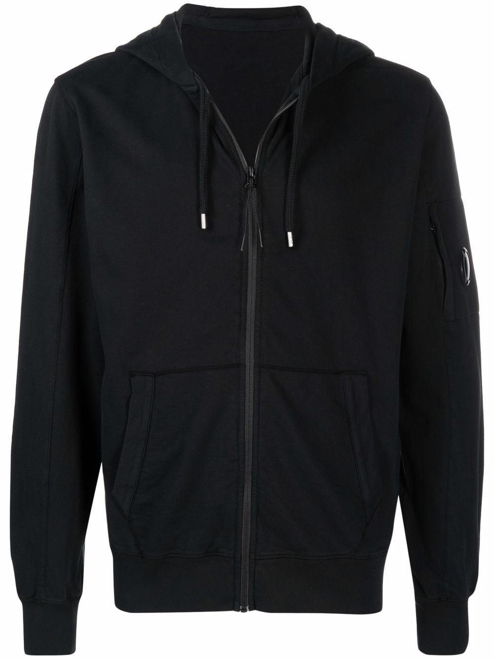 zip sweatshirt man black in cotton C.P. COMPANY | Sweatshirts | 11CMSS077A002246G999