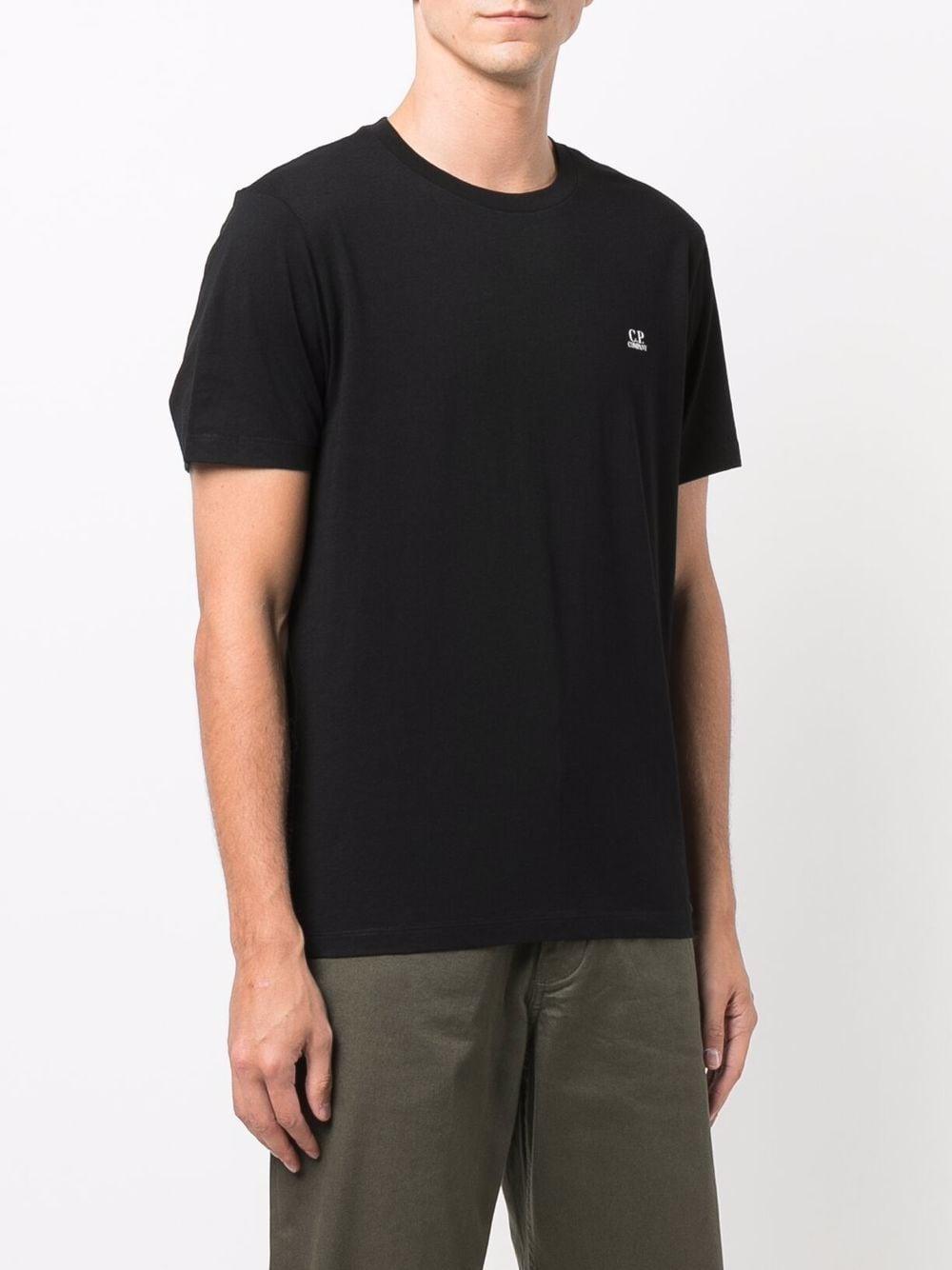 logo t-shirt man black in cotton C.P. COMPANY | T-shirts | 11CMTS037A005100W999
