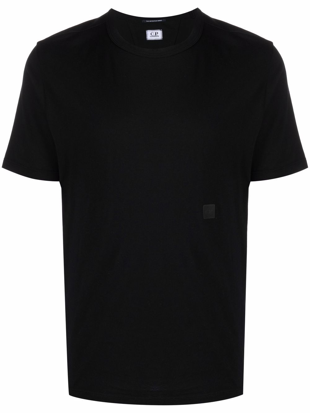 t-shirt con logo uomo nera in cotone C.P. COMPANY | T-shirt | 11CMTS045A005100W999