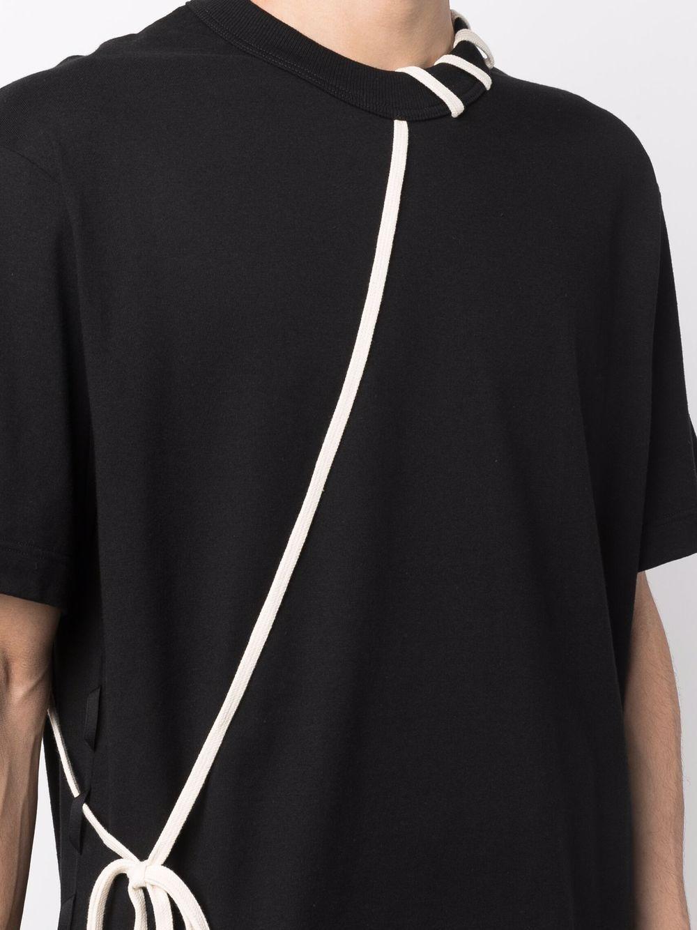 t-shirt con laccio uomo nera in cotone CRAIG GREEN | T-shirt | CGAW21CJETSS01