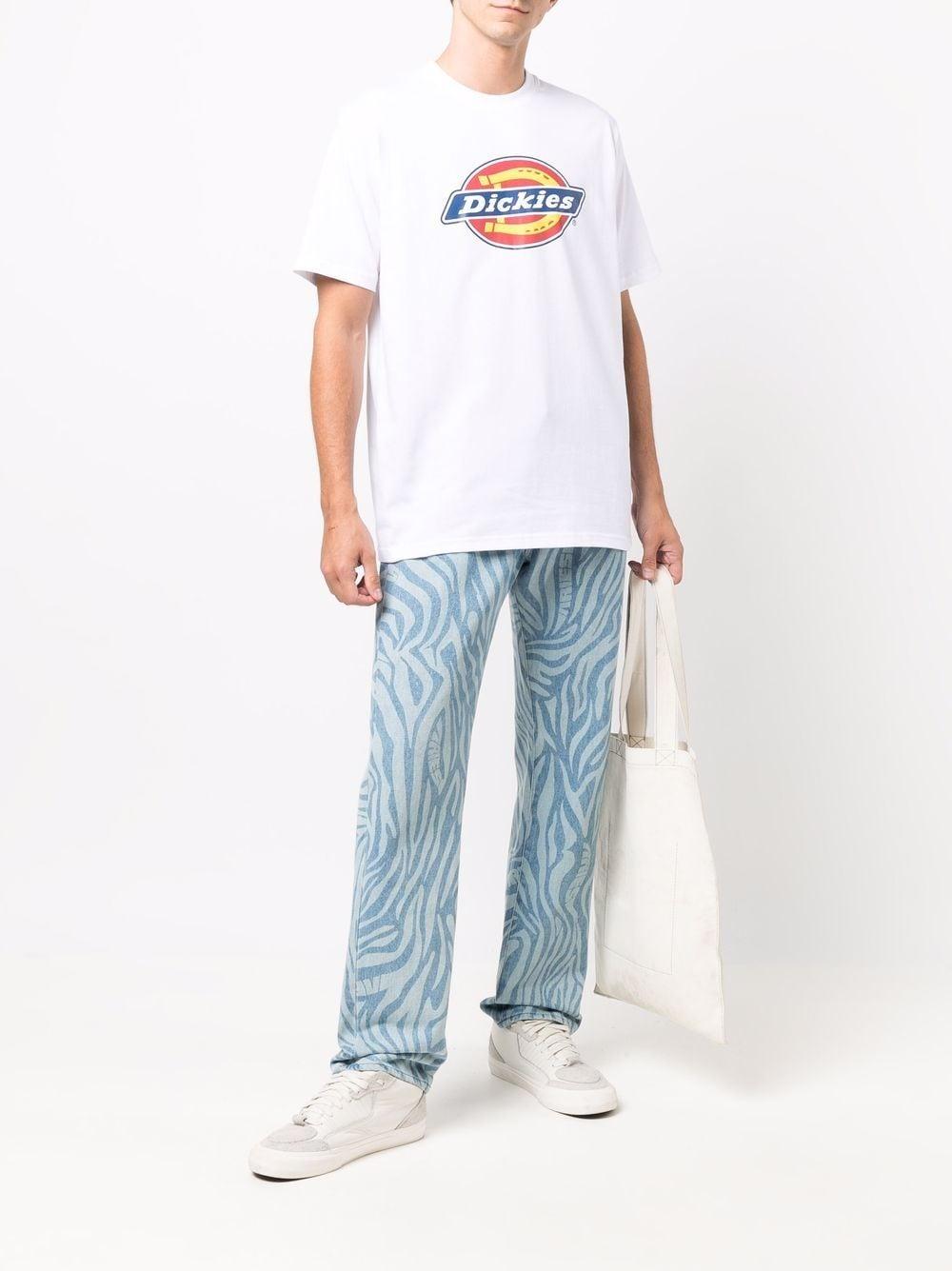 t-shirt con logo uomo bianca in cotone DICKIES | T-shirt | DK0A4XC9WHX1