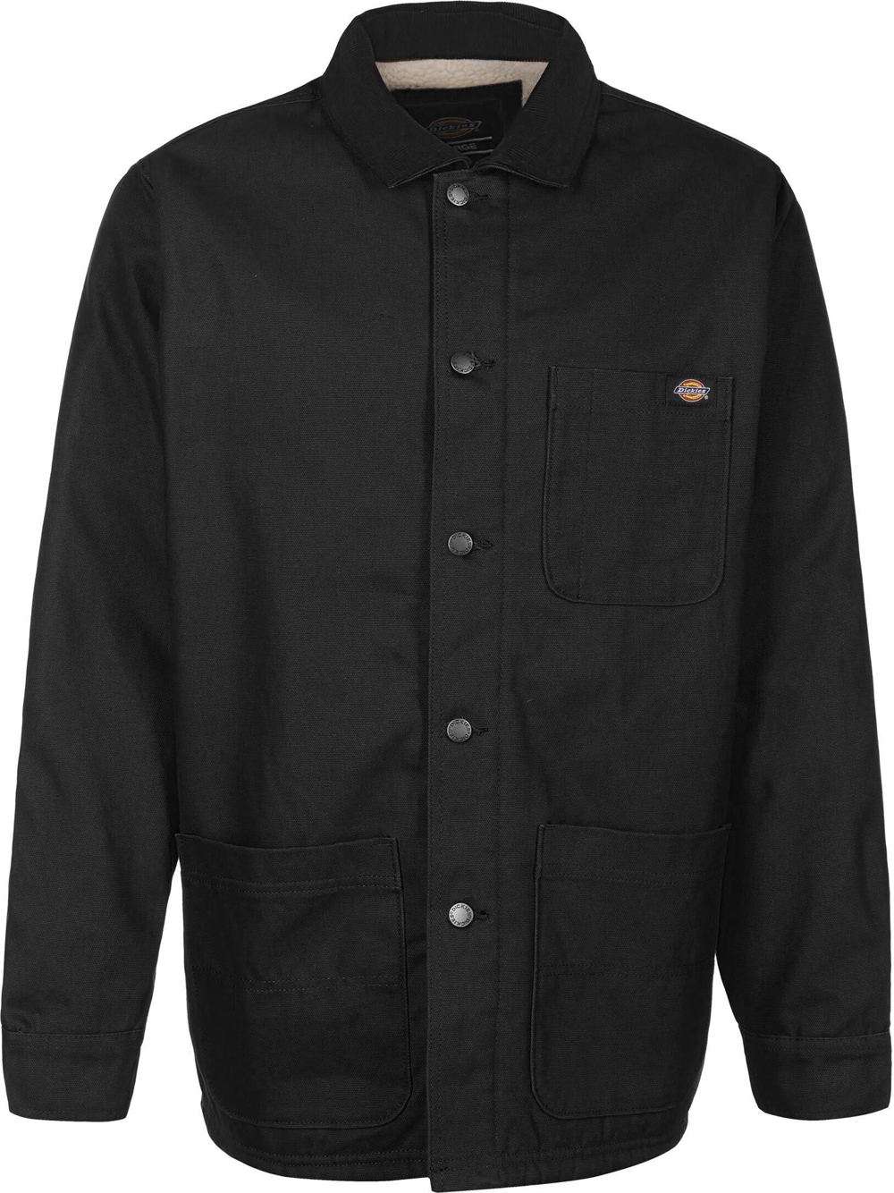 jacket with pockets man black in cotton DICKIES | Jackets | DK0A4XGABLK1