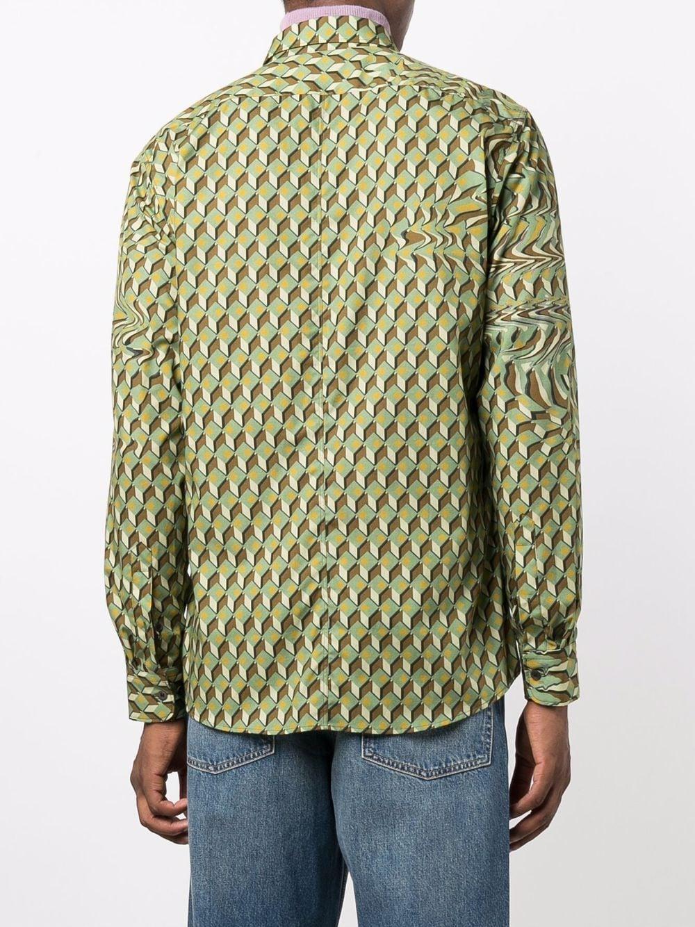 camicia corbino uomo kaki in cotone DRIES VAN NOTEN | Camicie | CORBINO 3069606