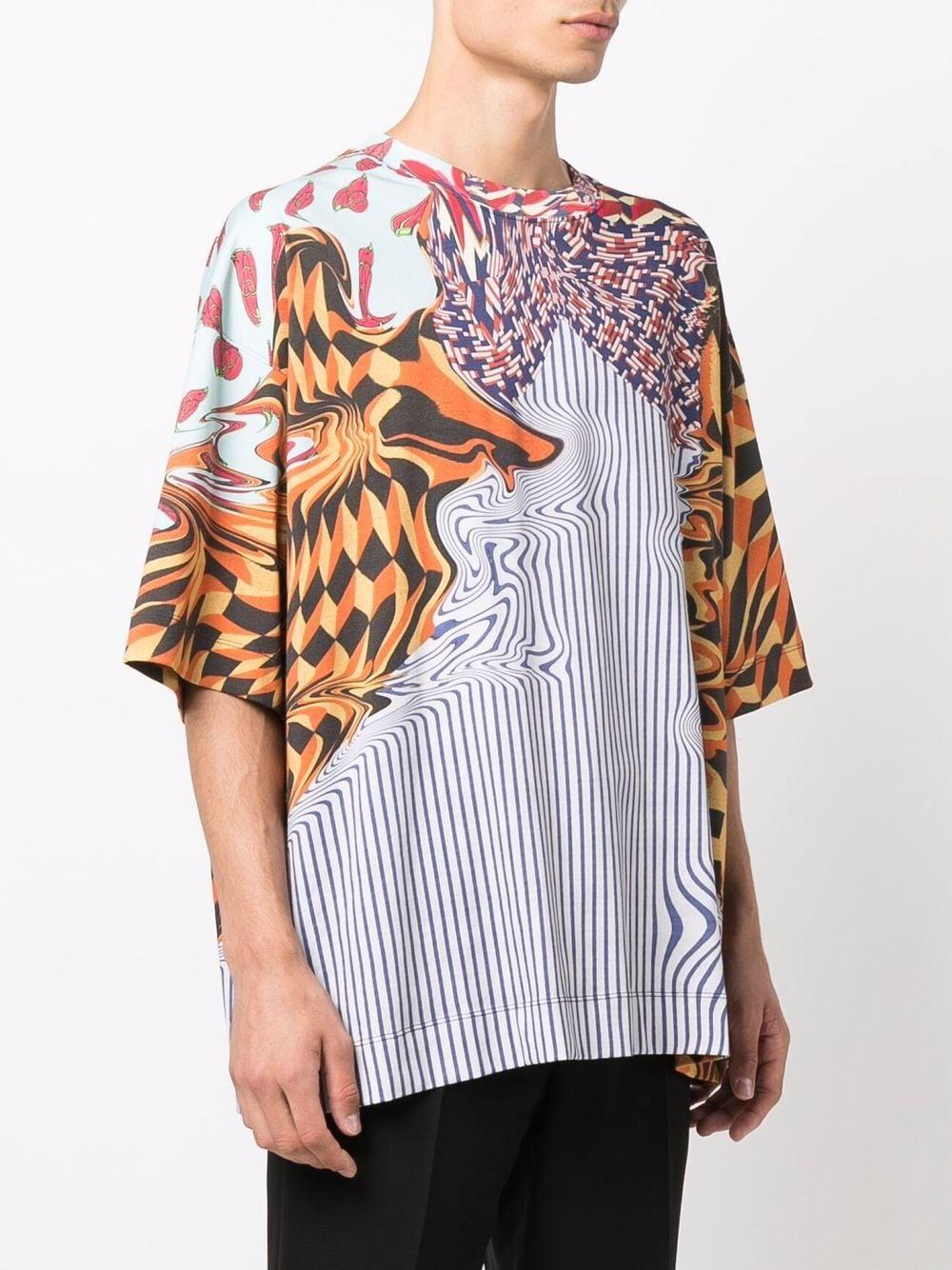 printed t-shirt man multicolor in cotton DRIES VAN NOTEN   T-shirts   HEN PR 3606353
