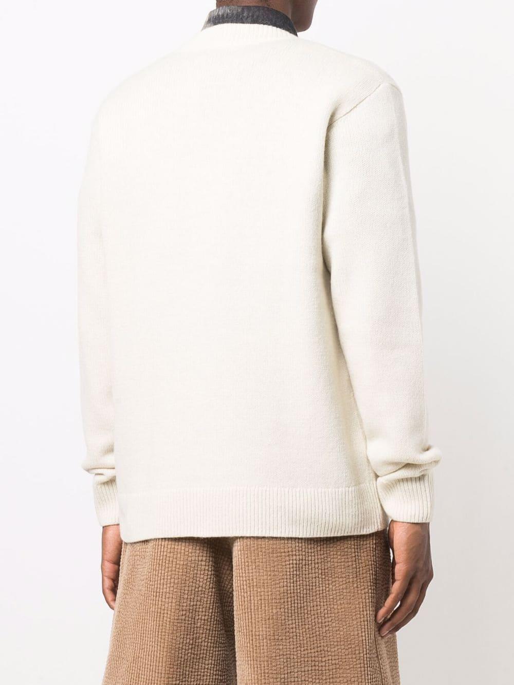 tamir sweater man ecru DRIES VAN NOTEN   Sweaters   TAMIR 37035