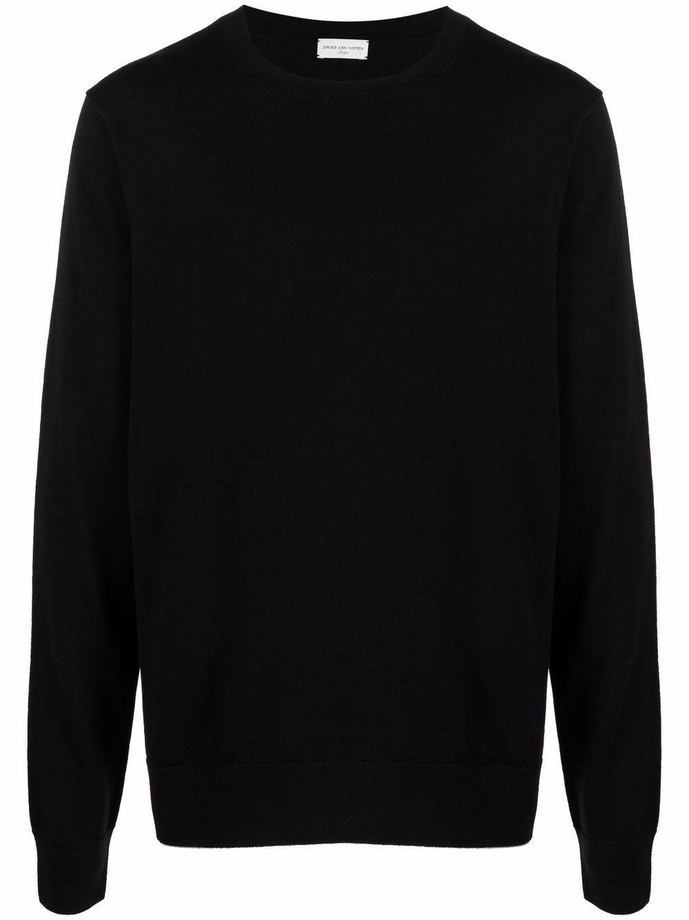 taxi sweater man black in wool DRIES VAN NOTEN | Sweaters | TAXI 3700900