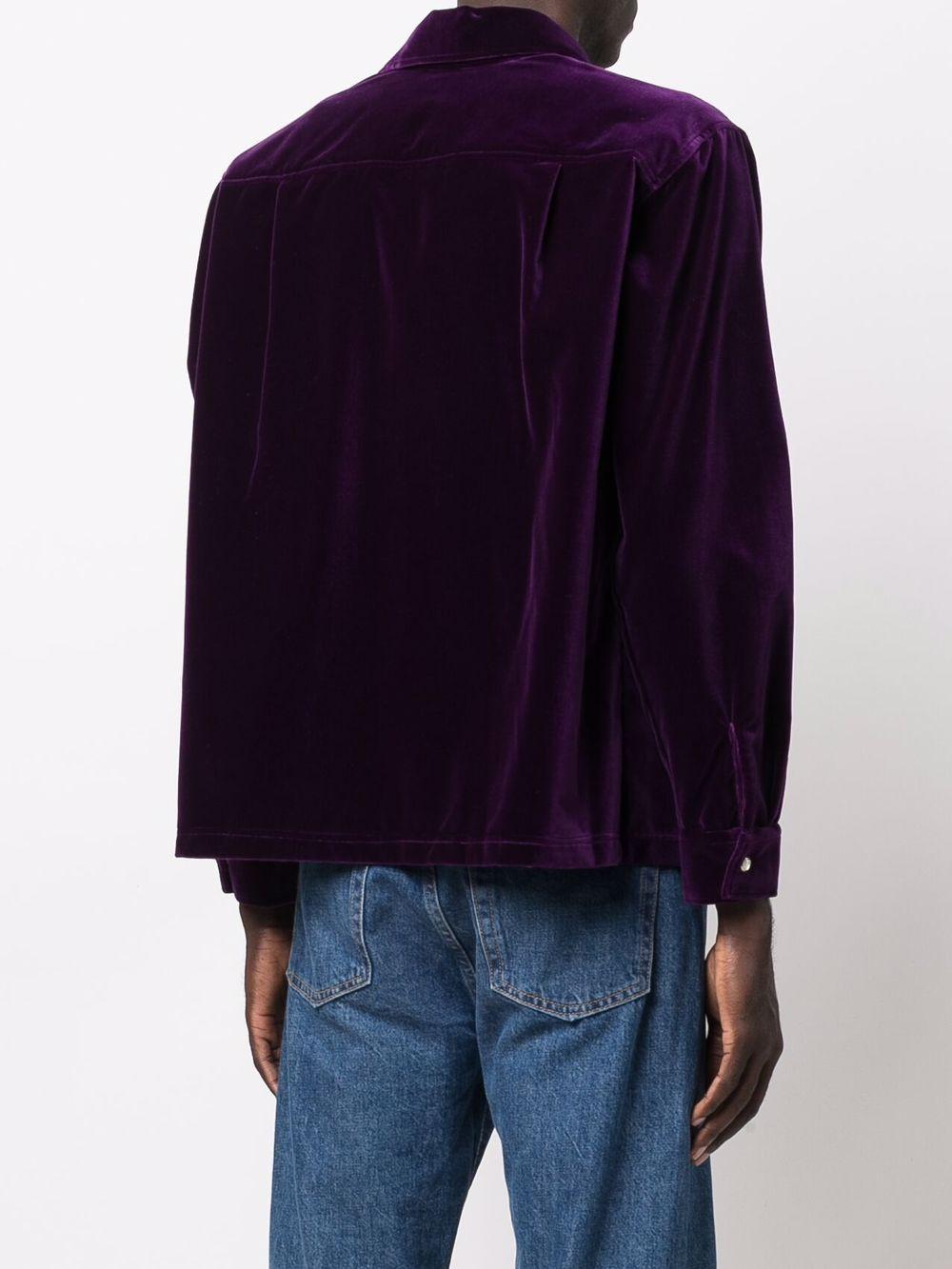 woven shirt man purple in cotton ERL | Shirts | ERL03B0061