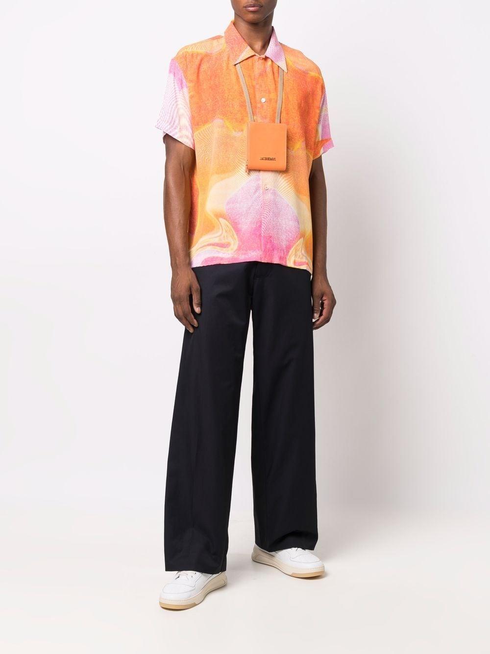 printed shirt man pink in viscose ERL   Shirts   ERL03B0092