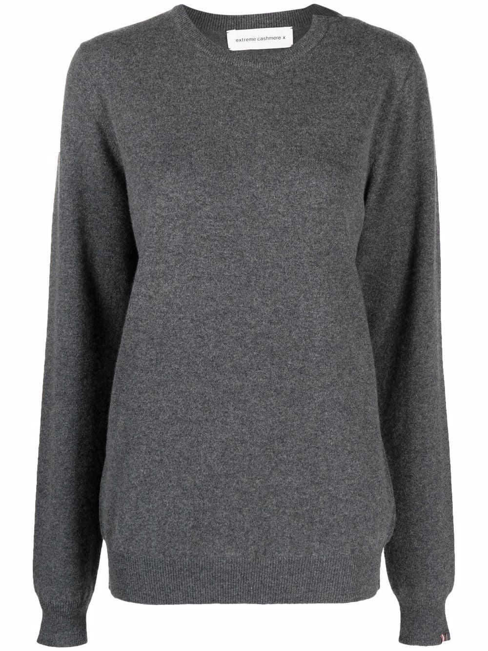 maglione a girocollo unisex grigio in cashmere EXTREME CASHMERE   Maglieria   03609801FE01FELT