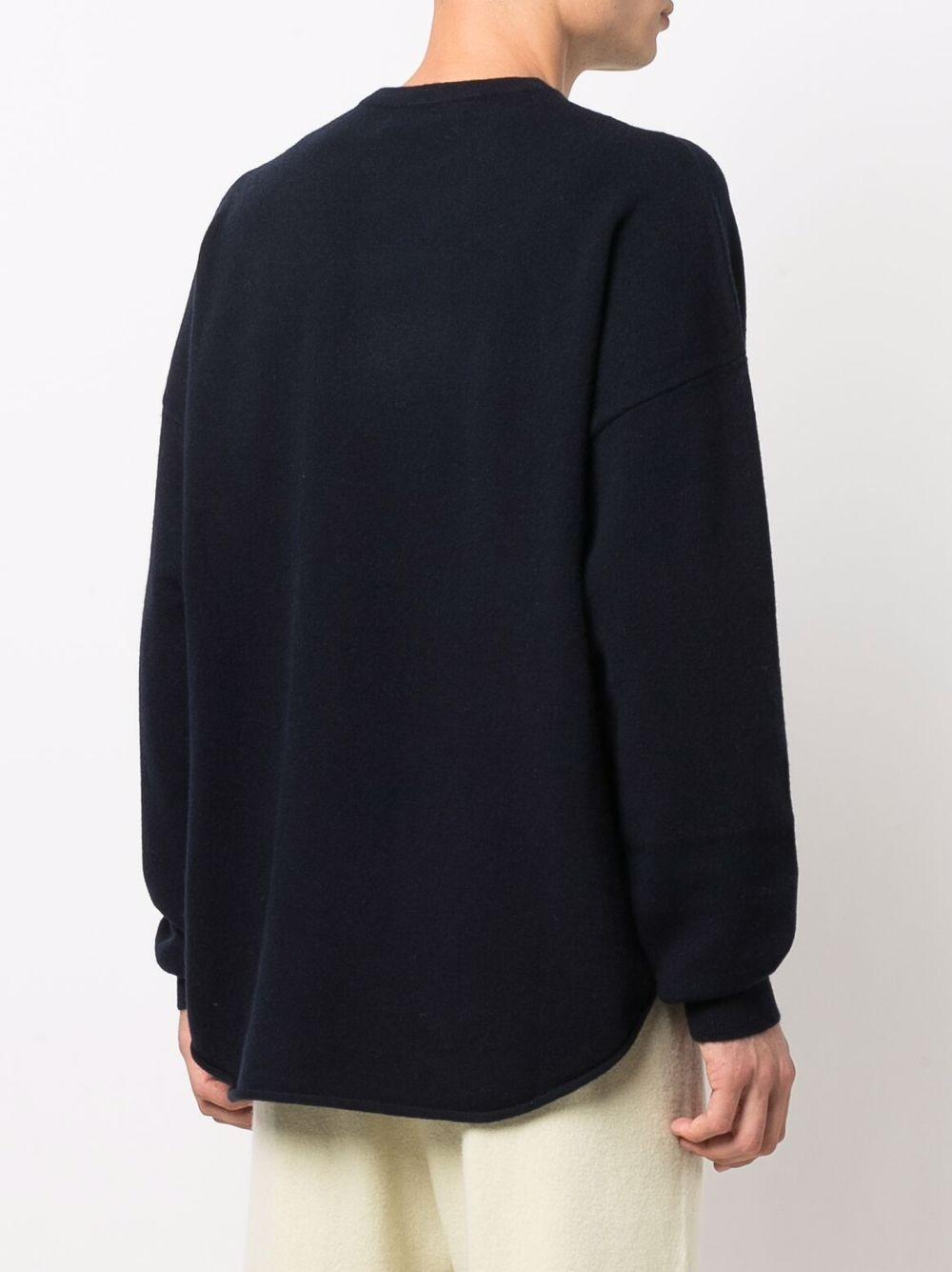 maglione con risvolto uomo grigio in cashmere EXTREME CASHMERE   Maglieria   05300101FE01NAVY