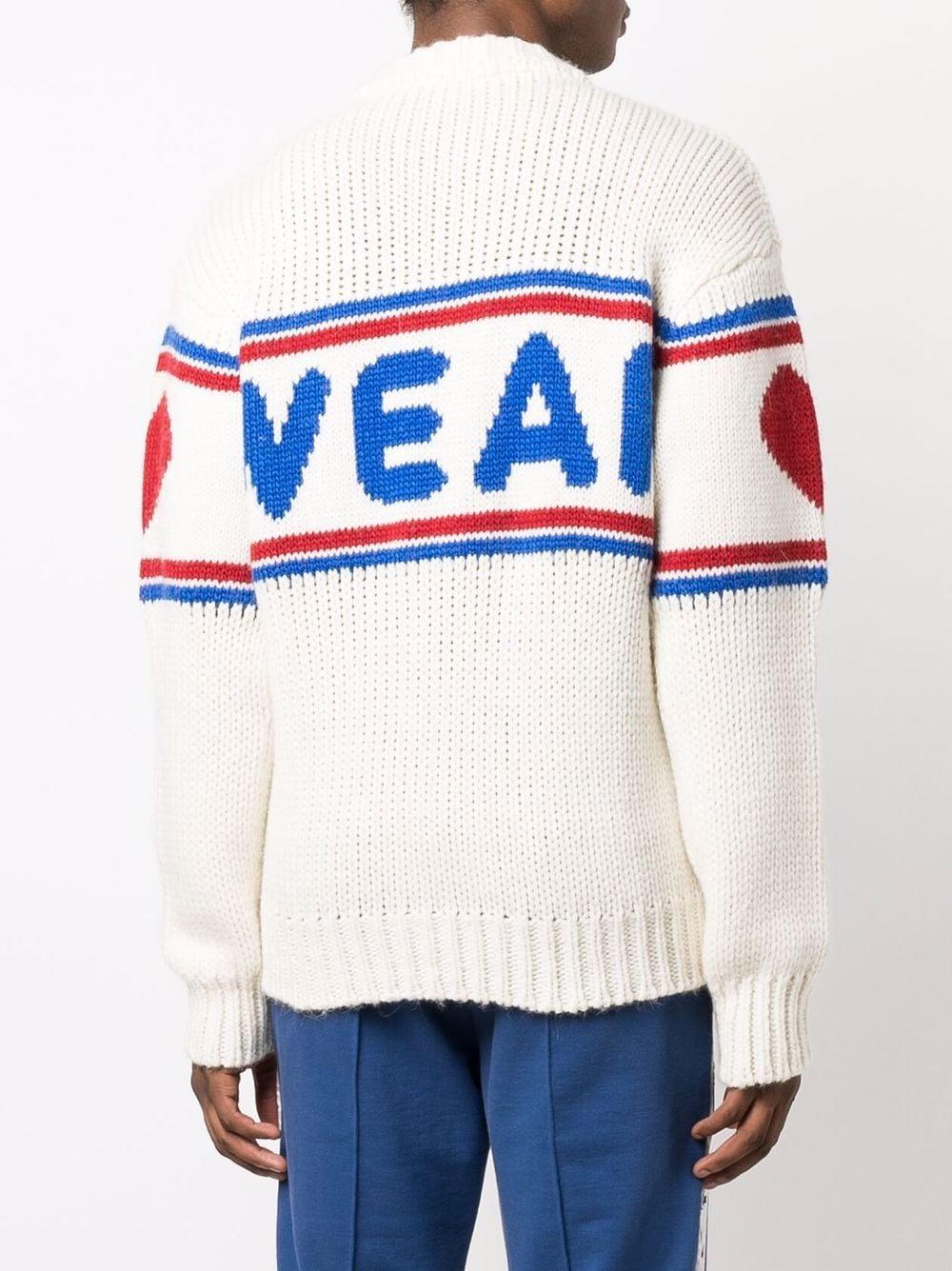maglione con logo uomo nero in misto lana GCDS | Maglieria | CC94M02116066