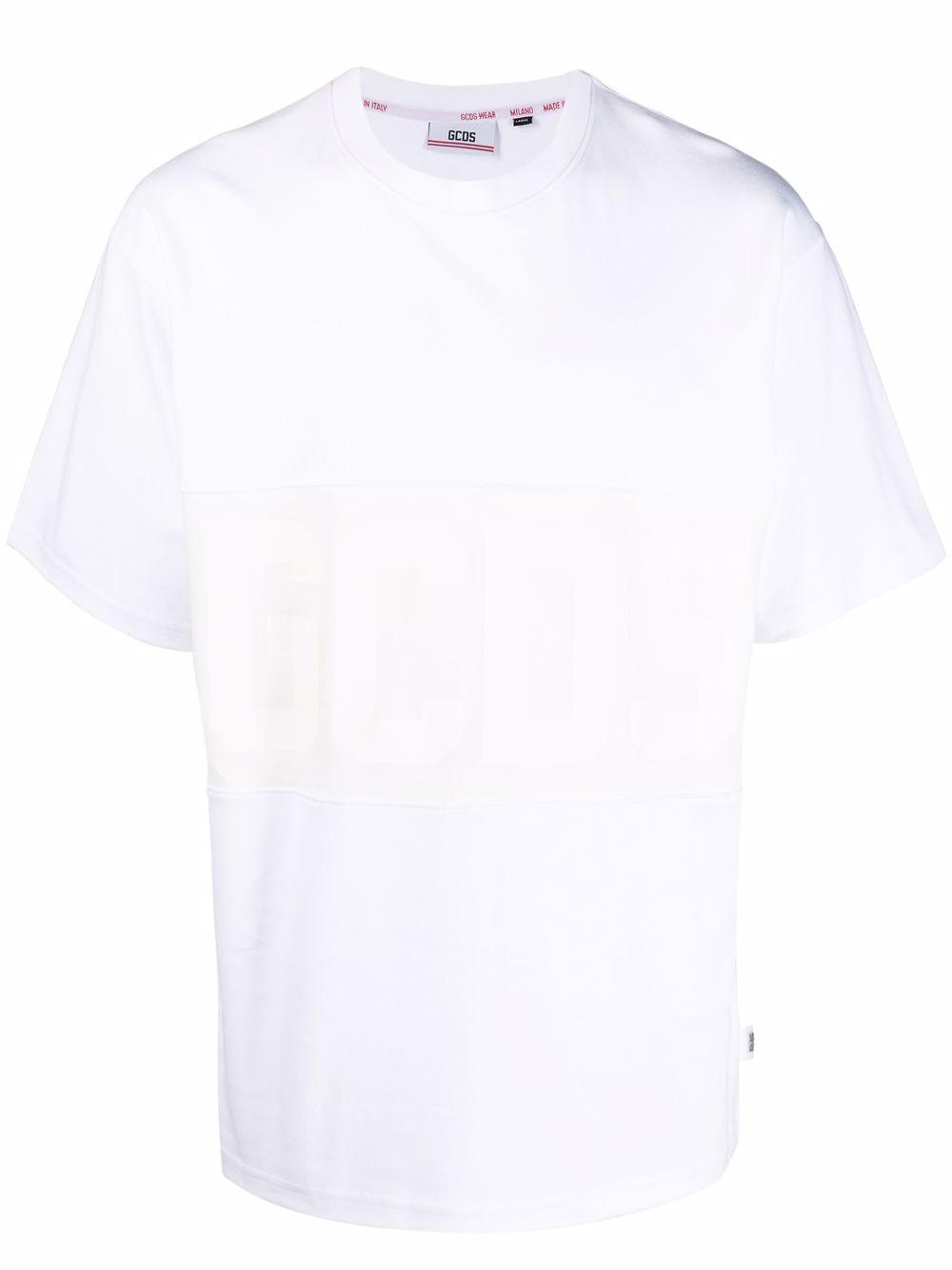 t-shirt con logo uomo bianca in cotone GCDS   T-shirt   CC94M02150101