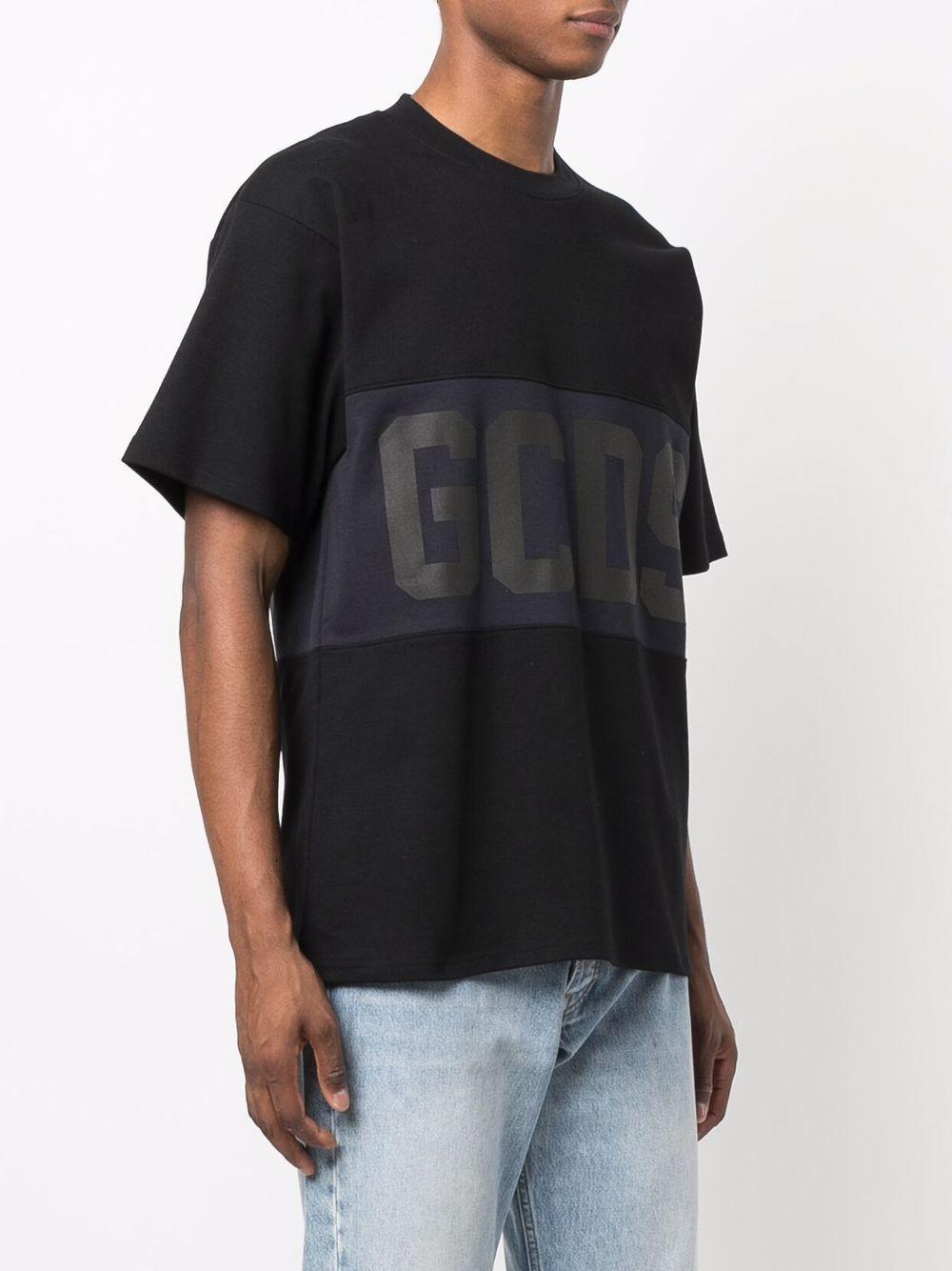 t-shirt con logo uomo nera in cotone GCDS | T-shirt | CC94M02150102