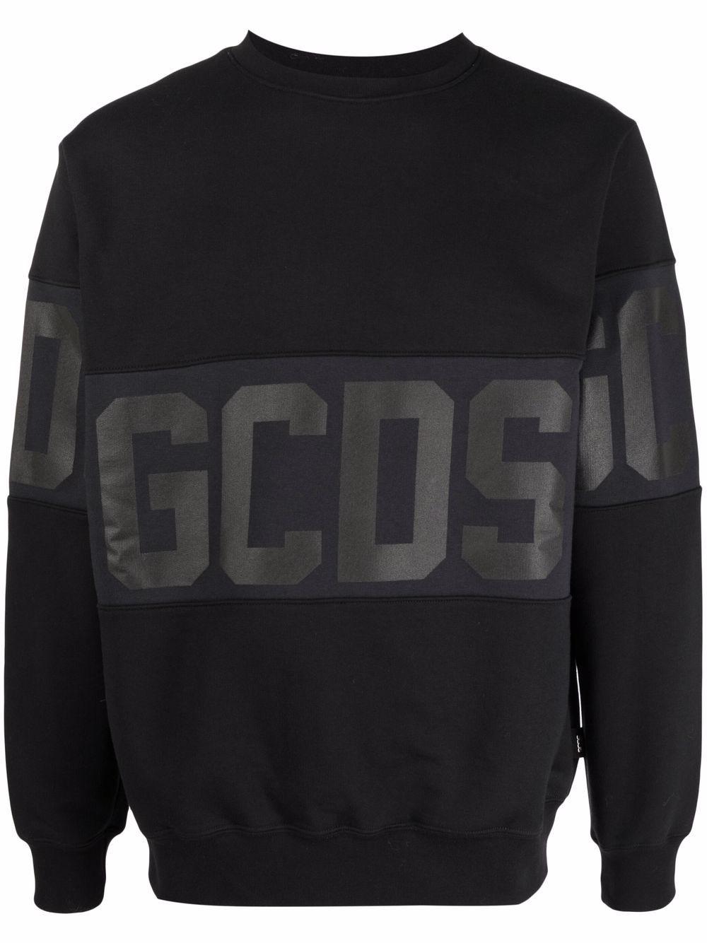 felpa con logo uomo nera in cotone GCDS   Felpe   CC94M02150202