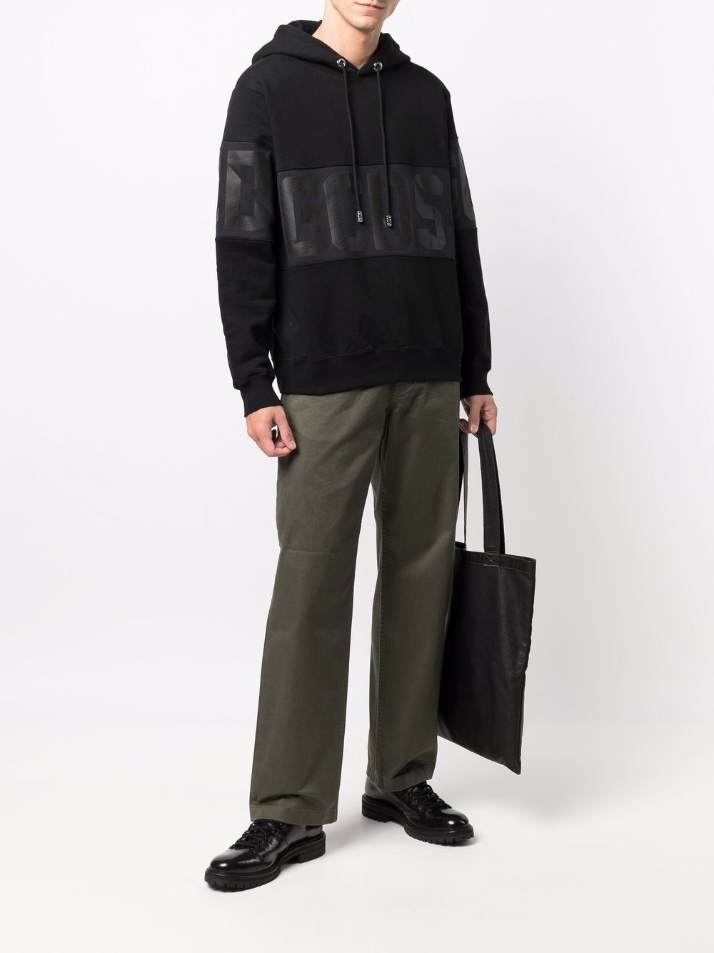 felpa con logo uomo nera in cotone GCDS | Felpe | CC94M02150302