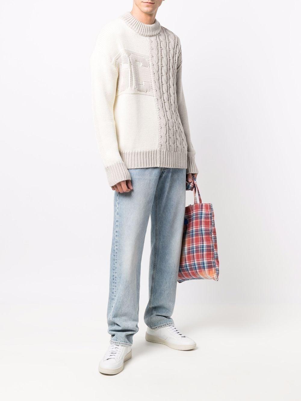 wool jumper man beige GCDS | Sweaters | FW22M02000166