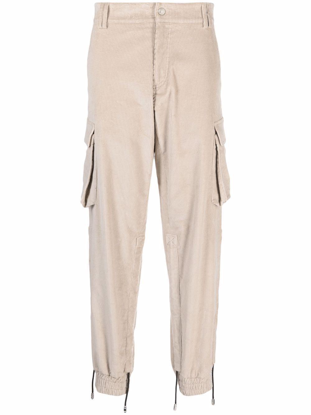 pantaloni cargo uomo beige in cotone GCDS   Pantaloni   FW22M03050213