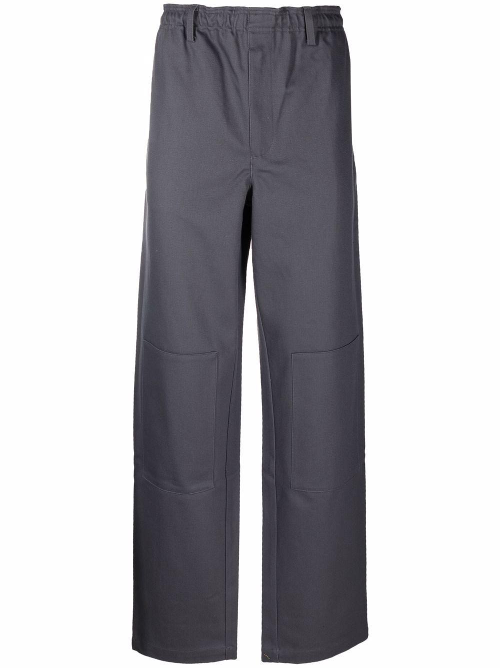lever trousers man gray in cotton GR10K | Trousers | GR1A9KECONVOY GREY