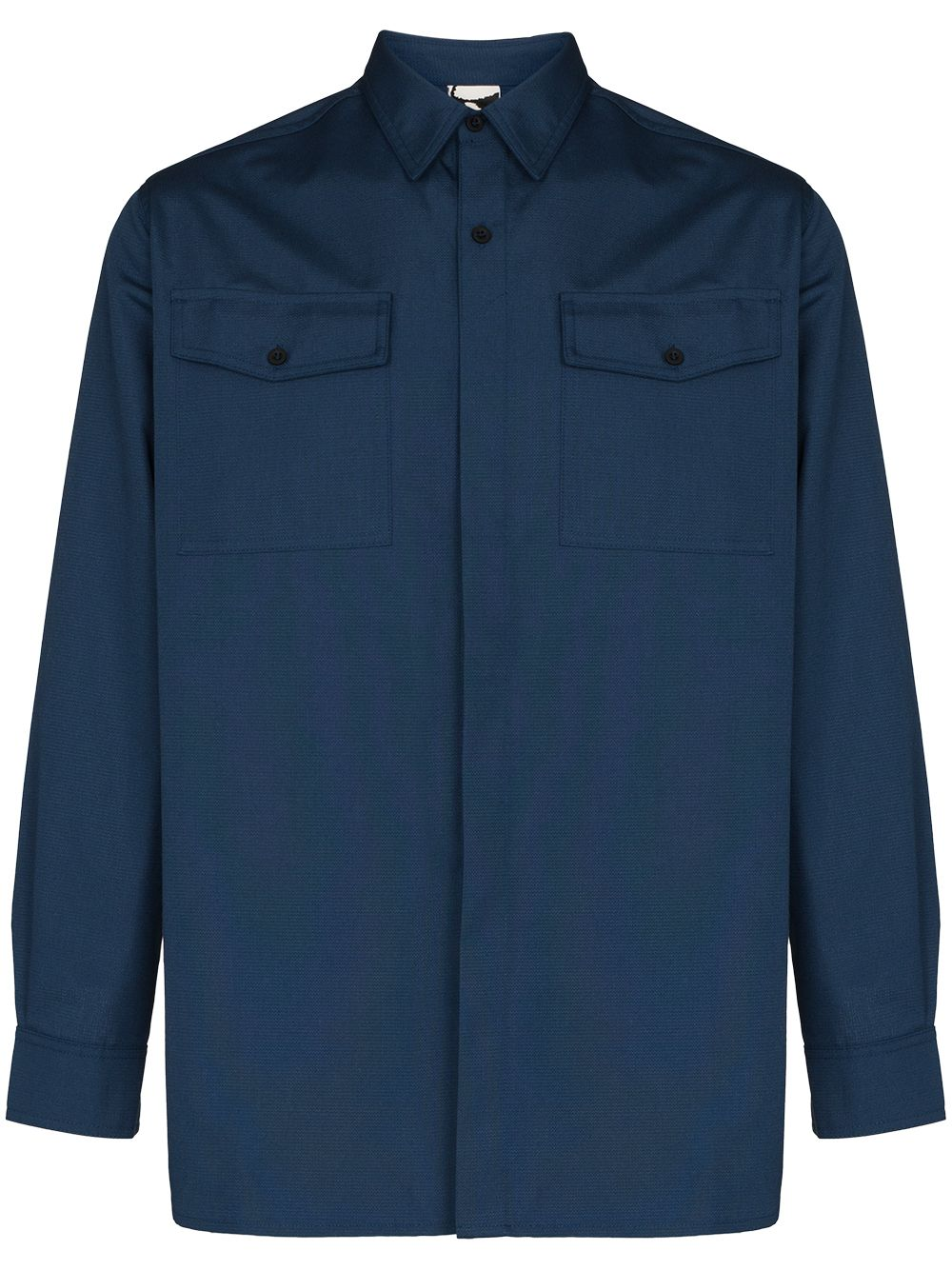 camicia ibena uomo blu in cotone GR10K   Camicie   GR2A5NCBRIGADIER BLUE
