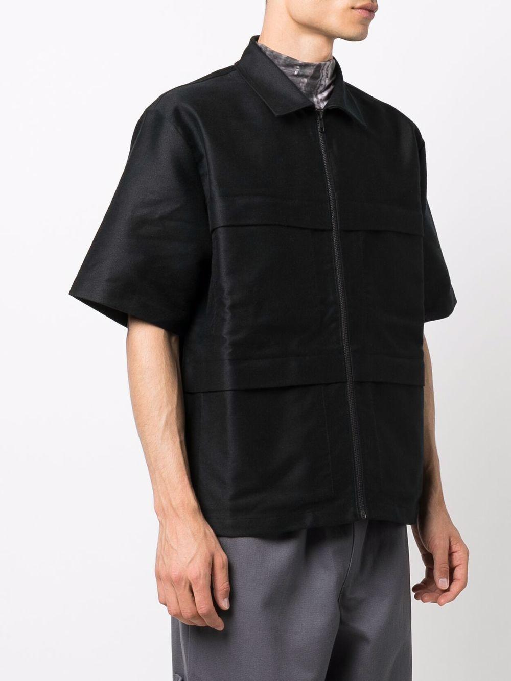 camicia solid uomo nera in cotone GR10K | Camicie | GR2AATEBLACK