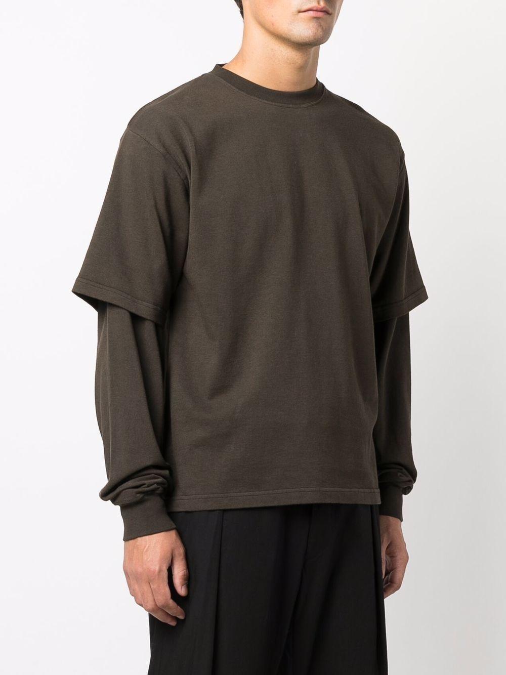 t-shirt a maniche lunghe uomo marrone in cotone GR10K | T-shirt | GR4A2JZSOIL BROWN