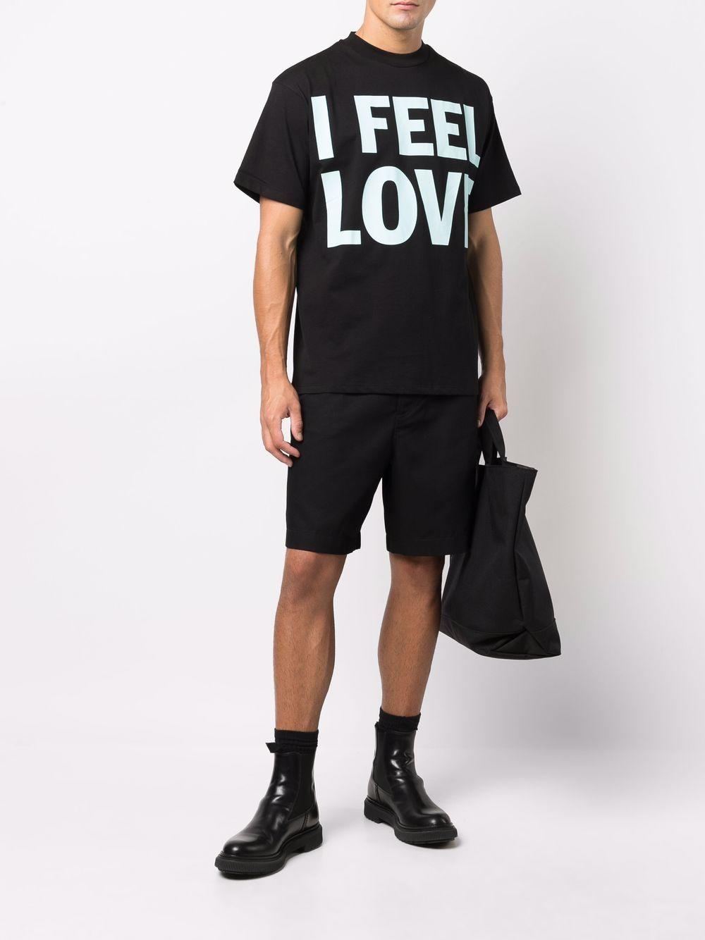 t-shirt con slogan uomo nero in cotone HONEY FUCKING DIJON | T-shirt | HFD04T0021