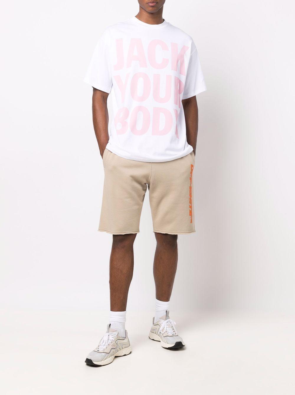 slogan t-shirt man white in cotton HONEY FUCKING DIJON | T-shirts | HFD04T0025