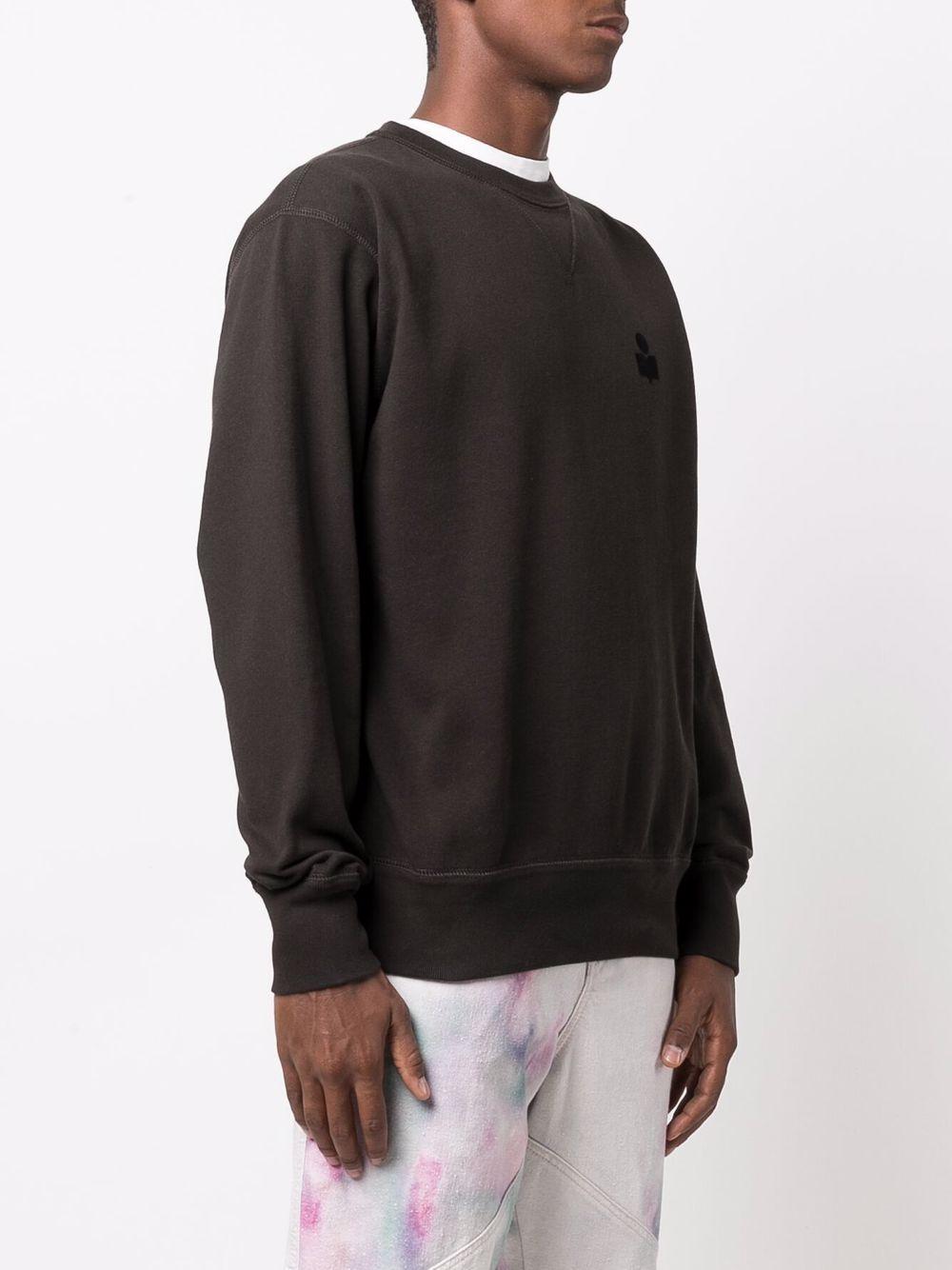 mike crewneck man black in cotton ISABEL MARANT | Sweatshirts | 00MSW0057-00M003H02FK