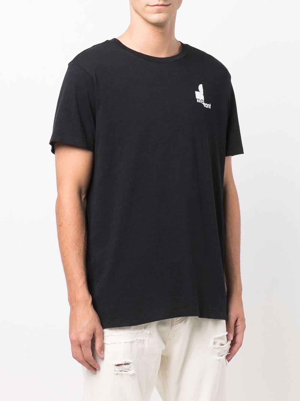 t-shirt zafferh uomo nera in cotone ISABEL MARANT   T-shirt   00MTS0433-00M900H01BK
