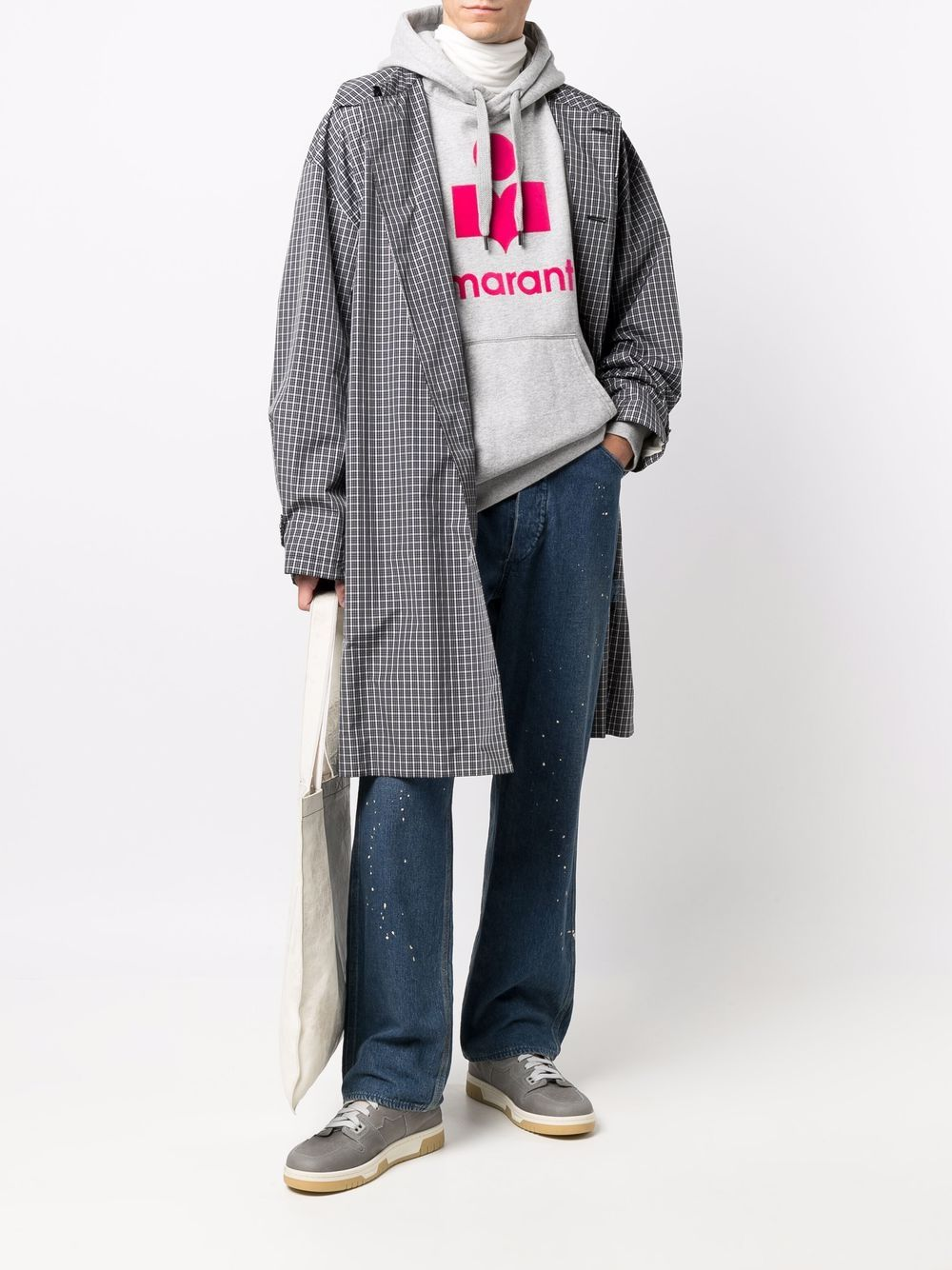 felpa miley uomo grigio in cotone ISABEL MARANT | Felpe | 21ASW0055-21A032H02GY