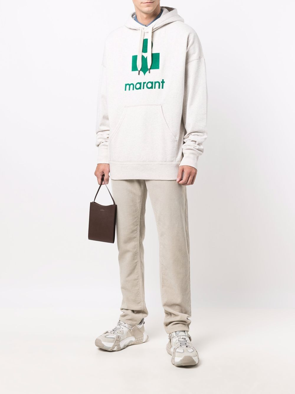 miley hoodie man white in cotton ISABEL MARANT   Sweatshirts   21ASW0055-21A032HGEEC