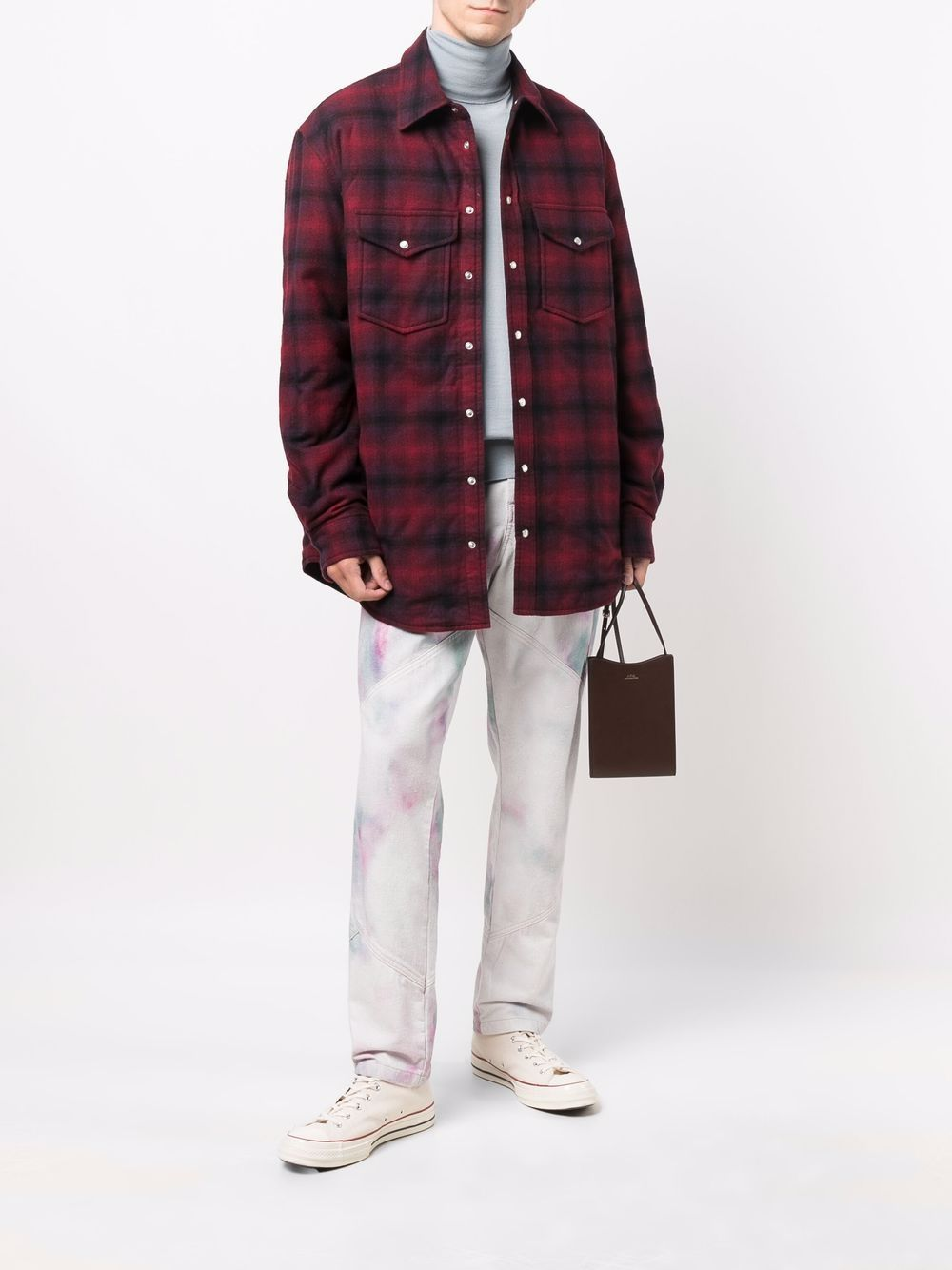giacca ruddy uomo a quadri in lana ISABEL MARANT   Giacche   21AVE1619-21A026H70RD