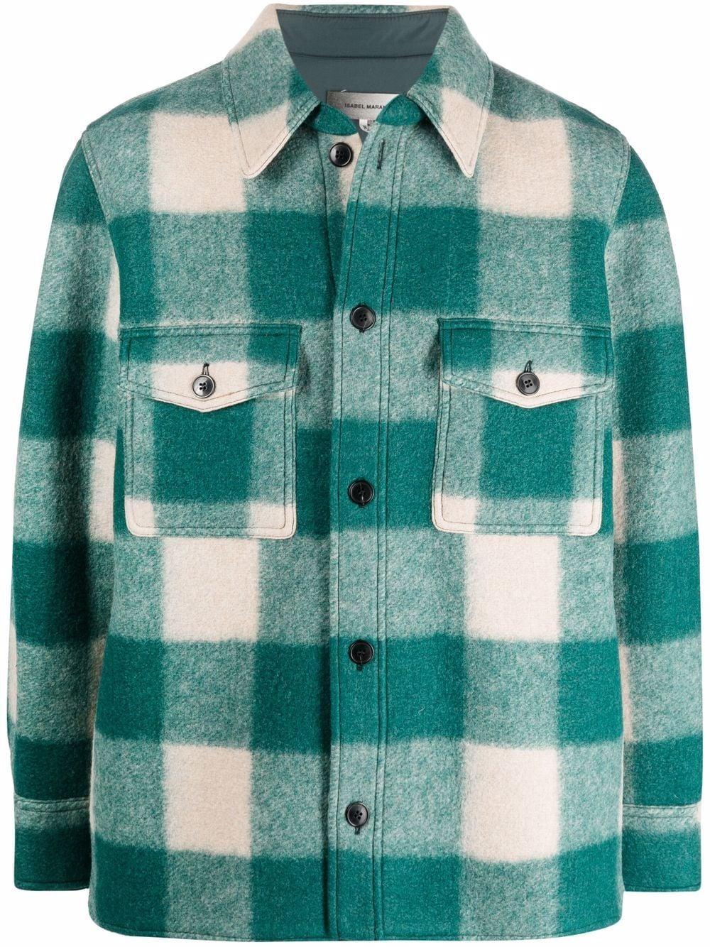 kevron jacket man green ISABEL MARANT   Coats   21AVE1623-21A008H60GR