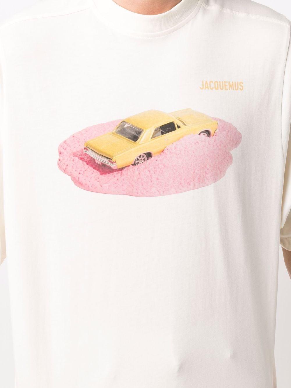 t-shirt voiture uomo bianca in cotone JACQUEMUS | T-shirt | 216JS15-2161AG