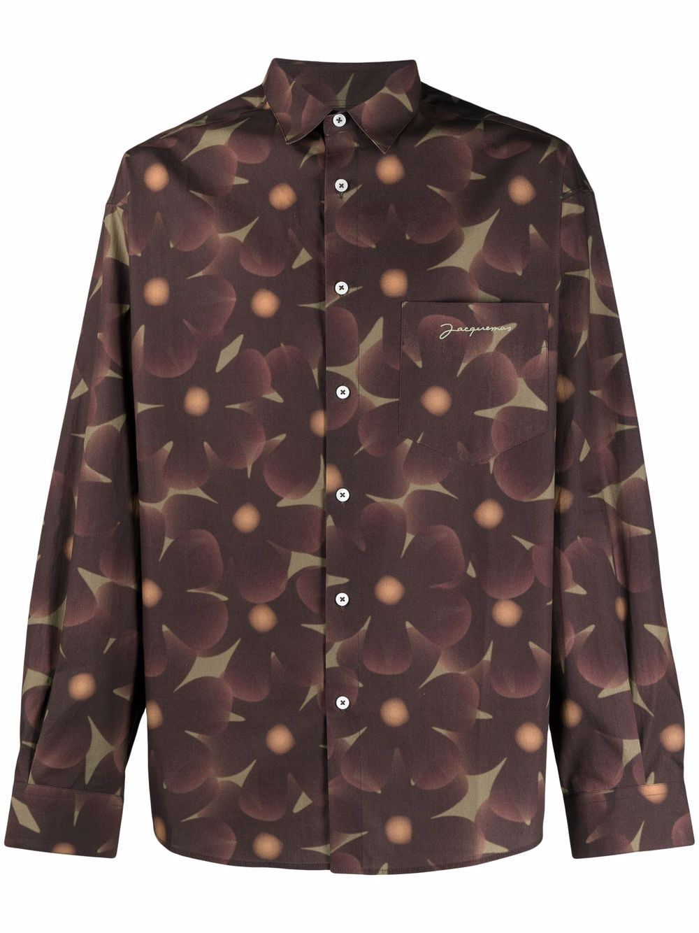 la chemise simon shirt man brown in cotton JACQUEMUS   Shirts   216SH01-2168AG