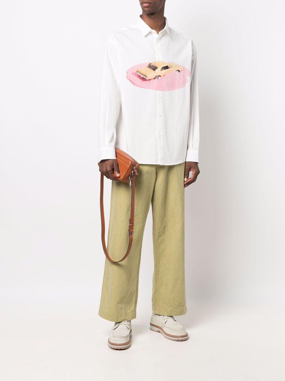 la chemise henri shirt man white in cotton JACQUEMUS   Shirts   216SH03-2161AM