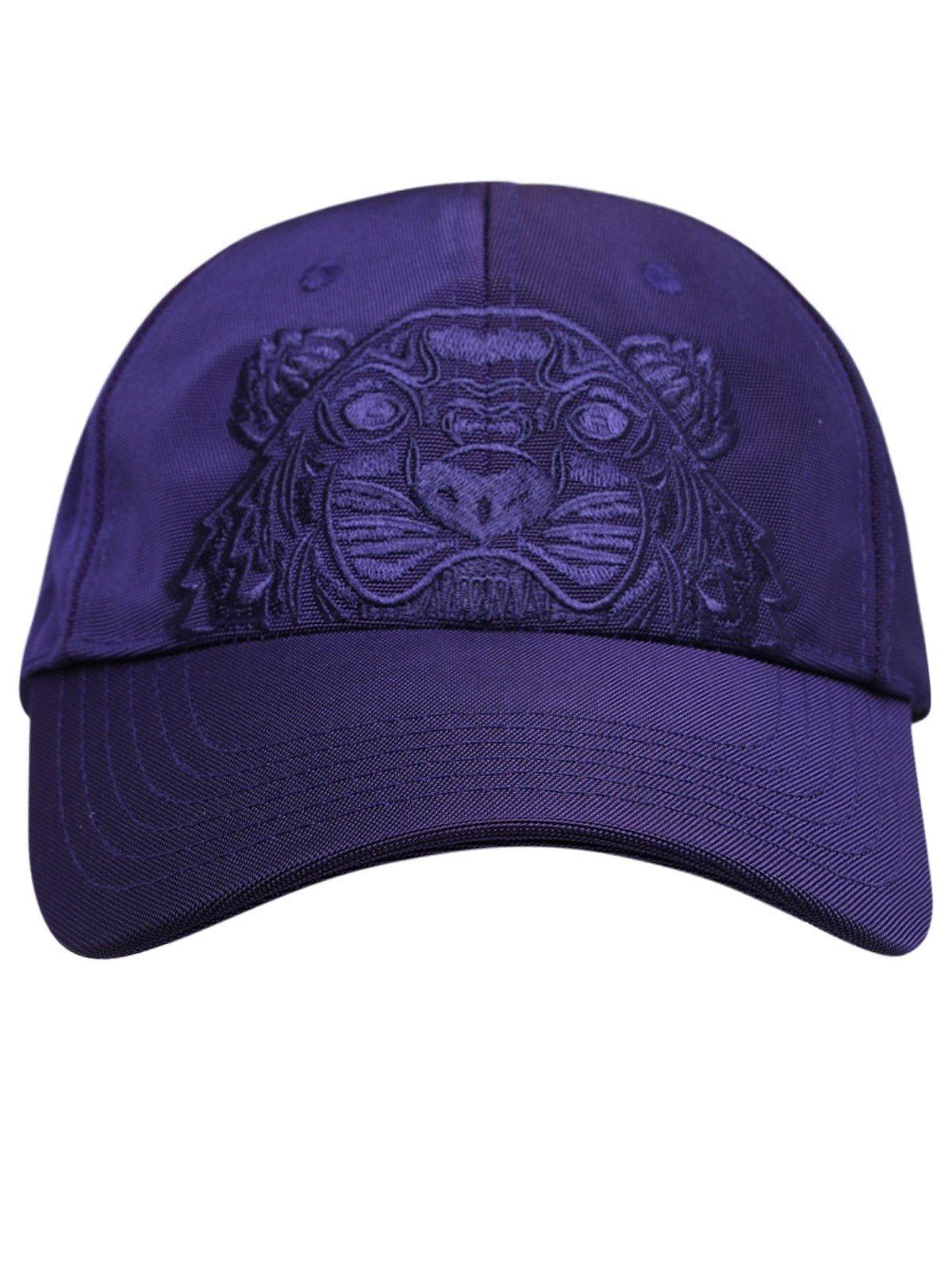 cappello con ricamo unisex viola in cotone KENZO | Cappelli | FA65AC301F2080