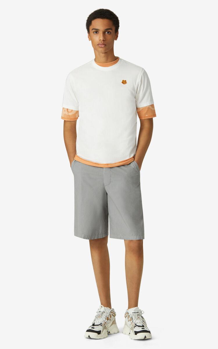 t-shirt con logo uomo bianca in cotone KENZO | T-shirt | FB55TS0034SA01B