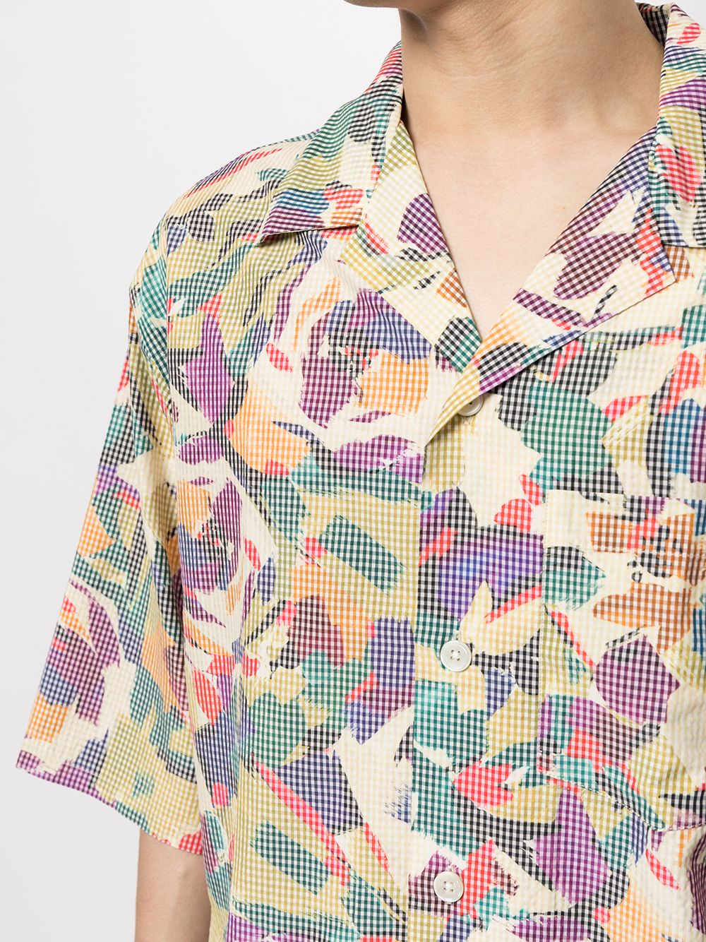 printed shirt man multicolor in cotton KENZO   Shirts   FB65CH1409S150